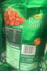 Iraqi Zahedi dates